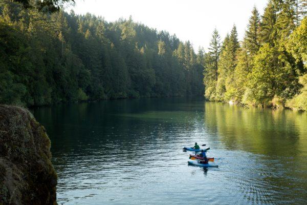 Paddling on the Clackamas river